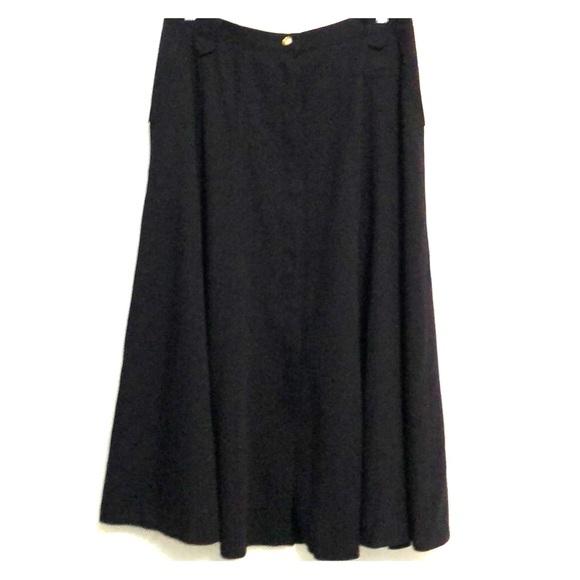 Vintage Wool Blend Balsler Black Skirt